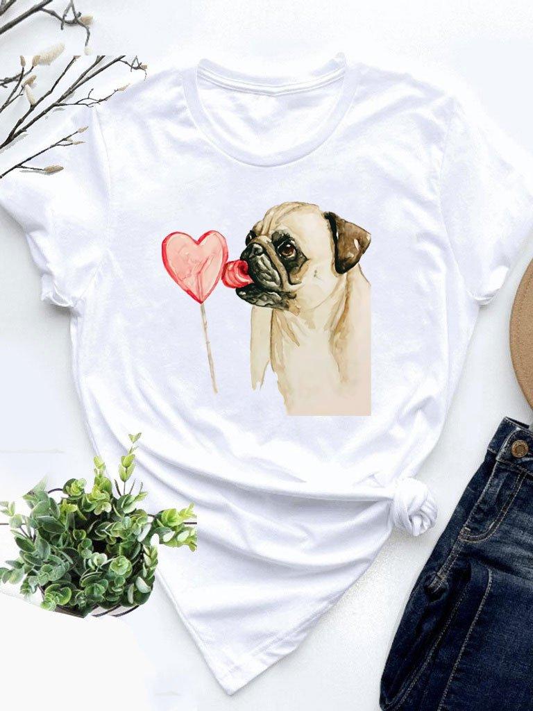 T-shirt biały Cukierek Love&Live