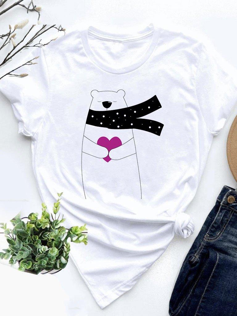 T-shirt biały Daję Miłość Love&Live