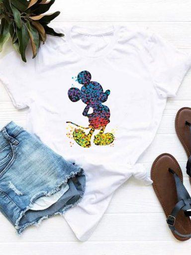 T-shirt biały Mikey Love&Live