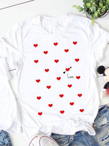 T-shirt biały Many Love ZUZU