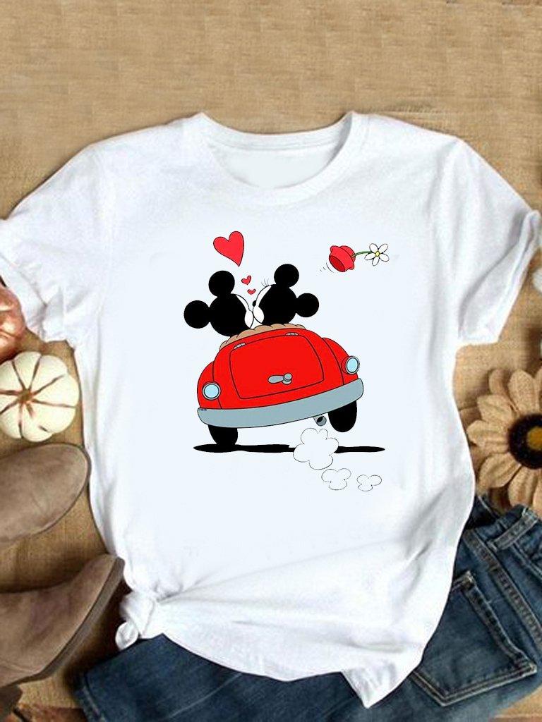 T-shirt biały Mickey Love LOVE&LIVE