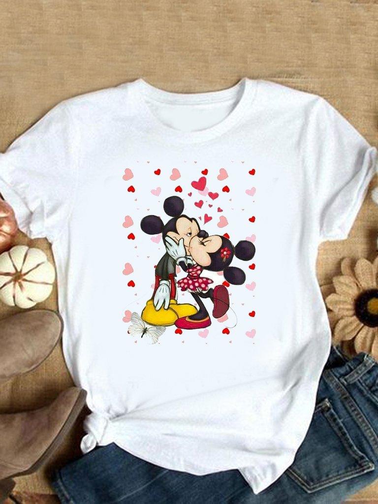 T-shirt biały Minnie Kiss LOVE&LIVE