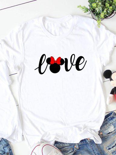 T-shirt biały Minnie Love ZUZU