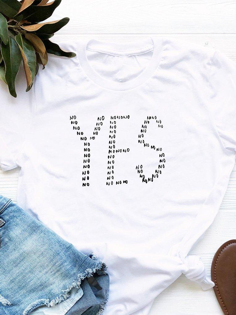 T-shirt biały No=Yes Love&Live