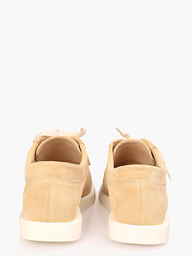 Zamszowe buty w kolorze beżowym na płaskiej podeszwie Love&Live (zdjęcie 3)