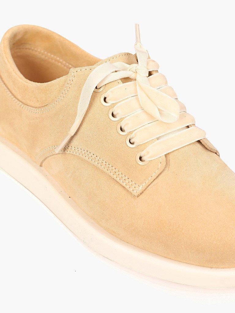Zamszowe buty w kolorze beżowym na płaskiej podeszwie Love&Live (zdjęcie 2)