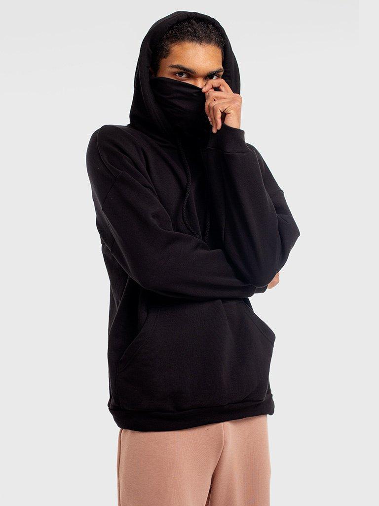 Czarna bluza dresowa z maską Katarina Ivanenko