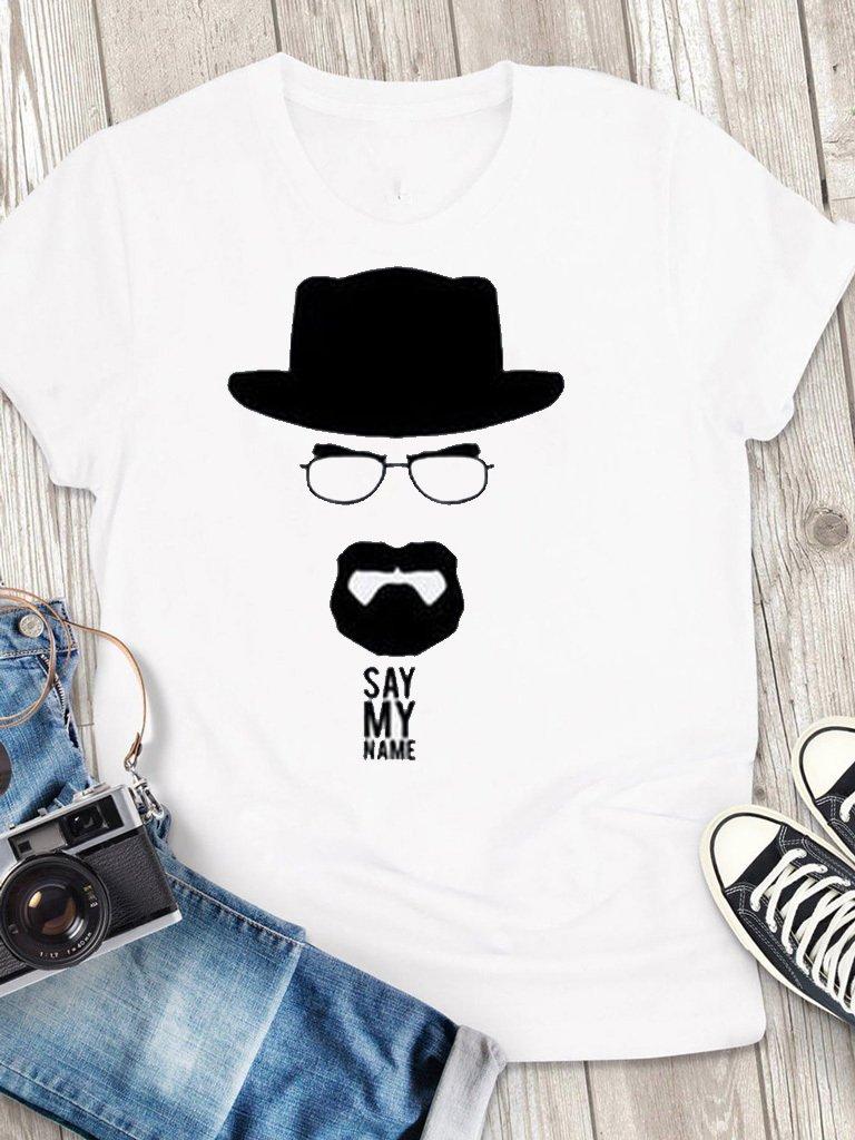 T-shirt męski biały Say My Name Love&Live
