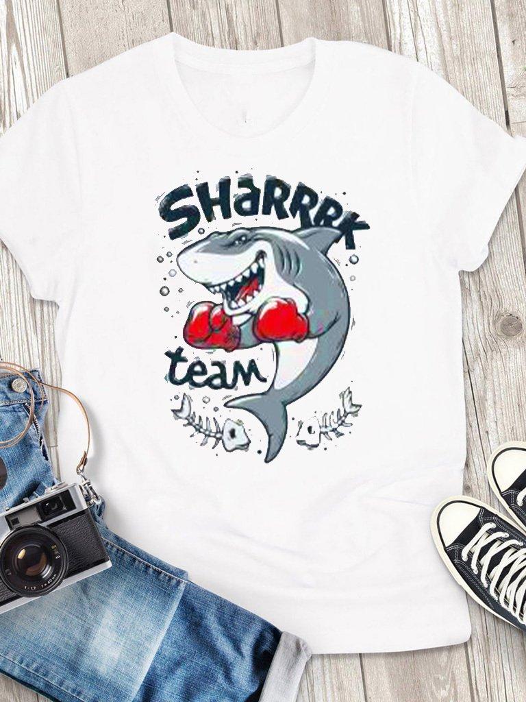 T-shirt męski biały Sharrrk Team Love&Live