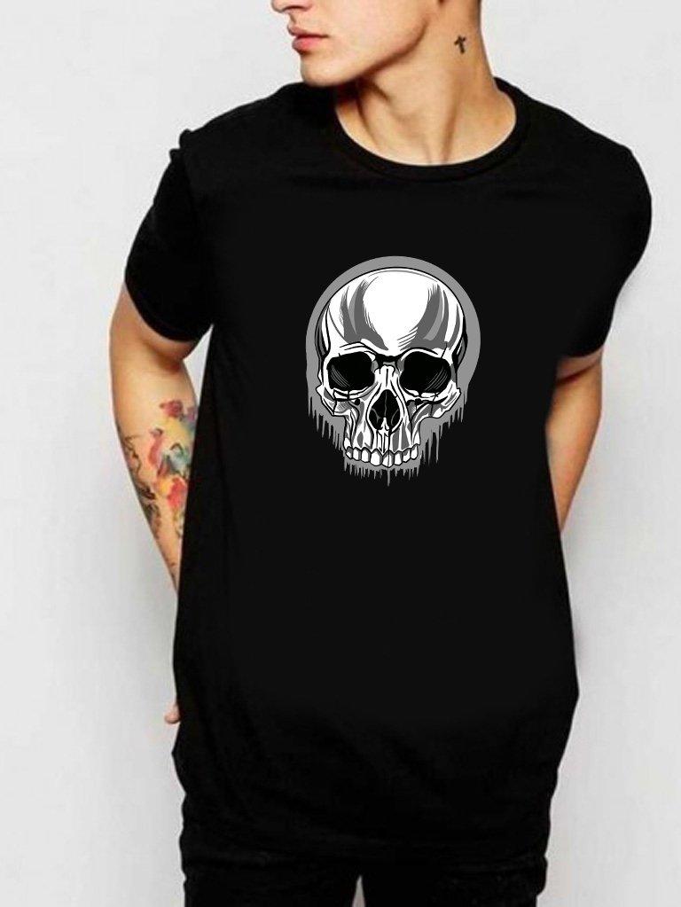 T-shirt męski czarny Skull Love&Live