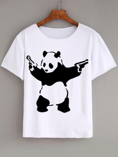 T-shirt biały Bansky by Love&Live