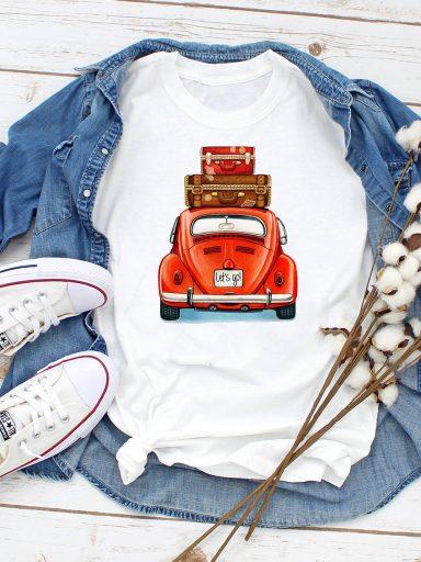 T-shirt biały Ruszajmy w drogę ZUZU