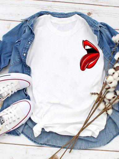 T-shirt biały Teaser mini ZUZU