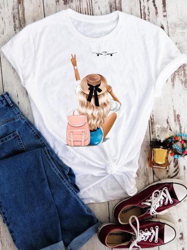 T-shirt biały Wakacje! Love&Live