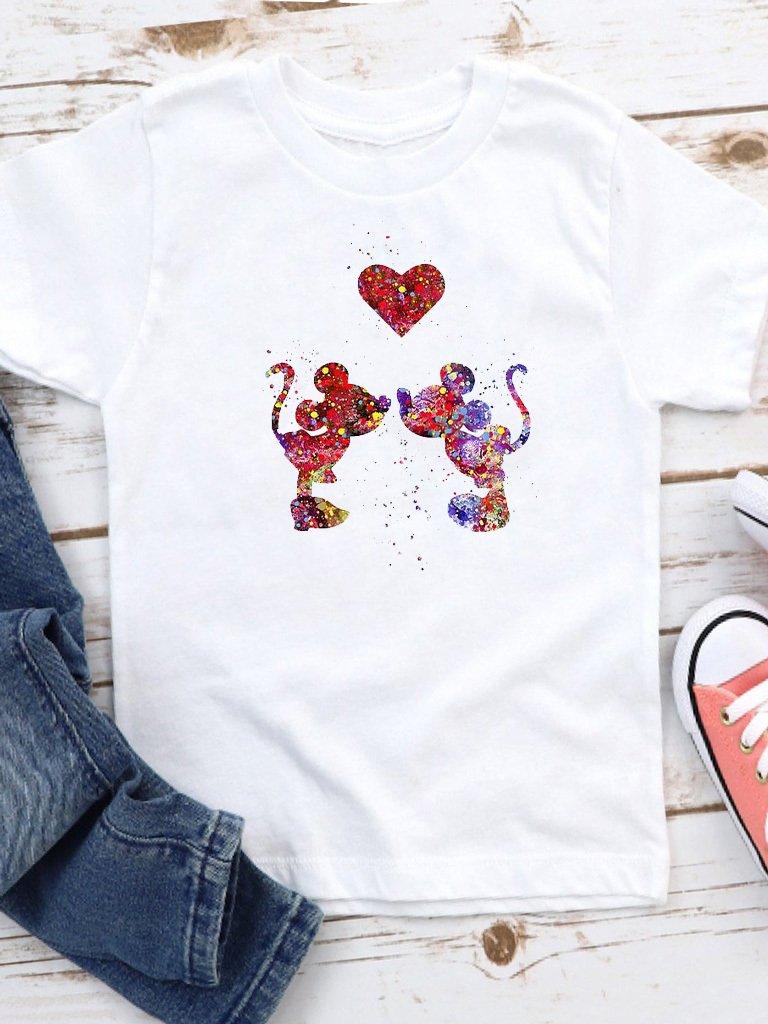 T-shirt biały dla dzieci Farby miłości Love&Live