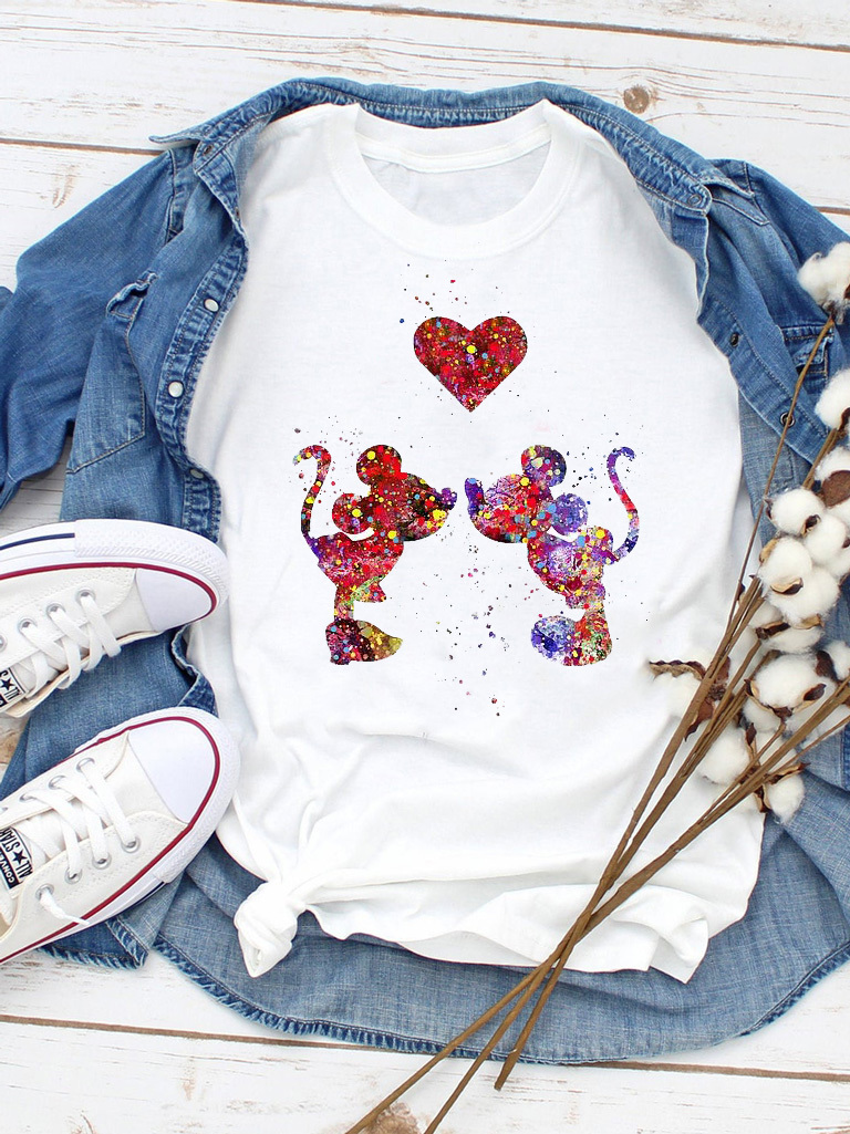 T-shirt biały Farby Miłości ZUZU