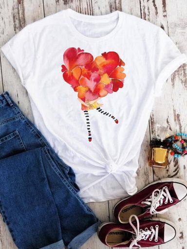 T-shirt biały Love in my hug Love&Live