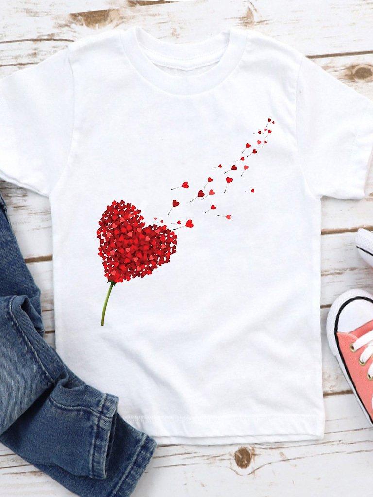 T-shirt biały dla dzieci Miłość wisi w powietrzu Love&Live
