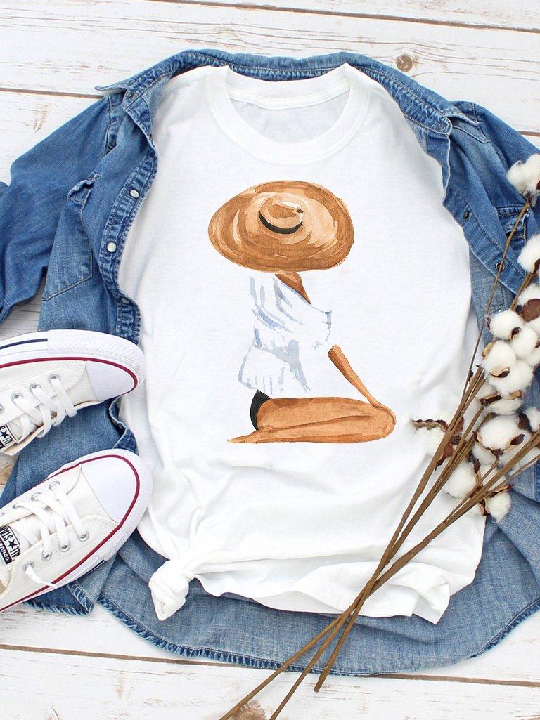 T-shirt biały Na plaży ZUZU