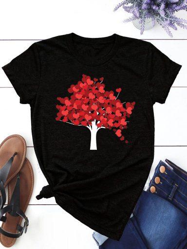 T-shirt czarny Jesień ZUZU