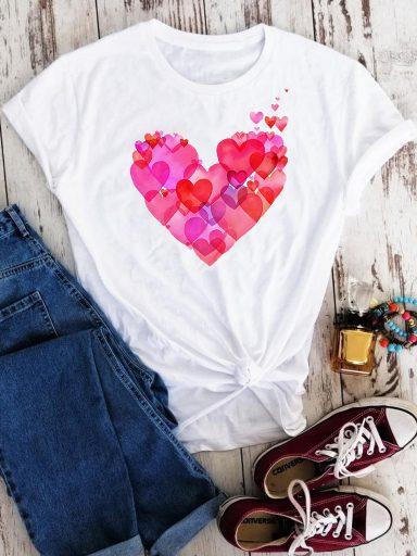 T-shirt biały Odcienie miłości Love&Live