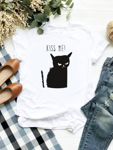 T-shirt biały Kiss Me Love&Live