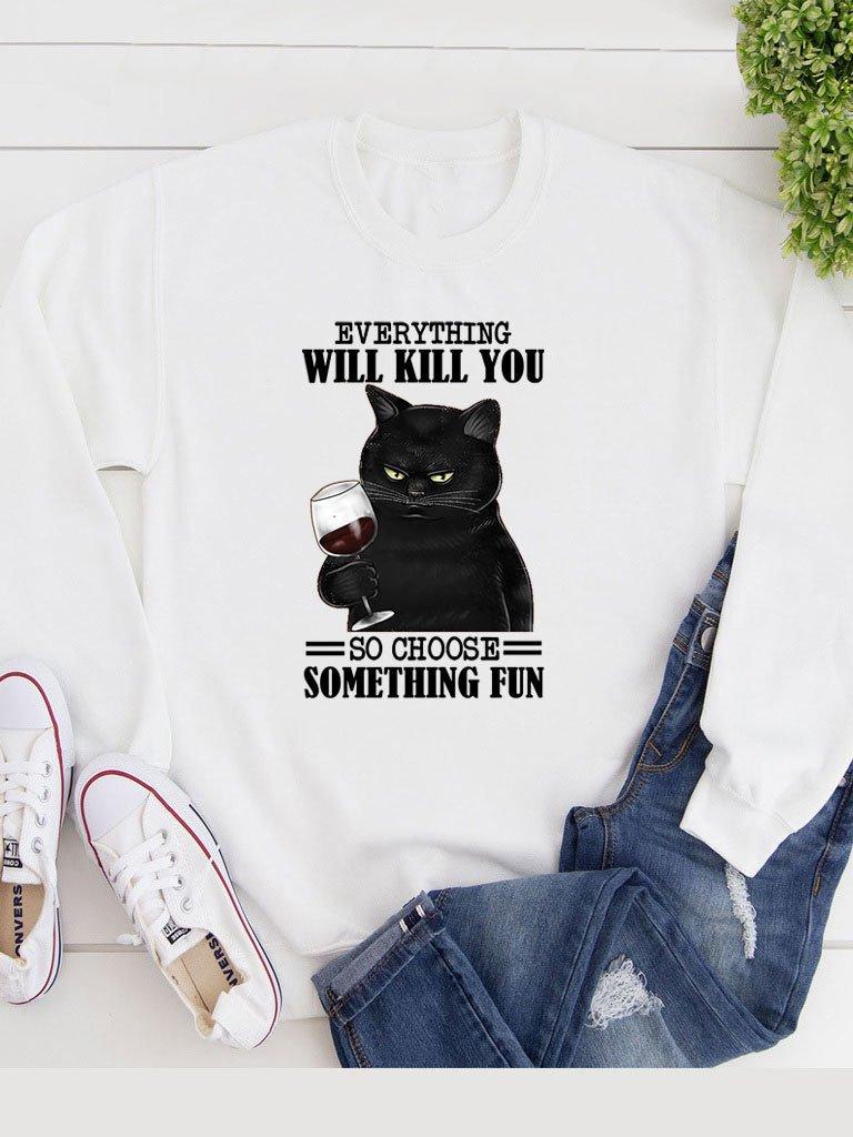 Bluza w kolorze białym Everything will kill you Katarina Ivanenko