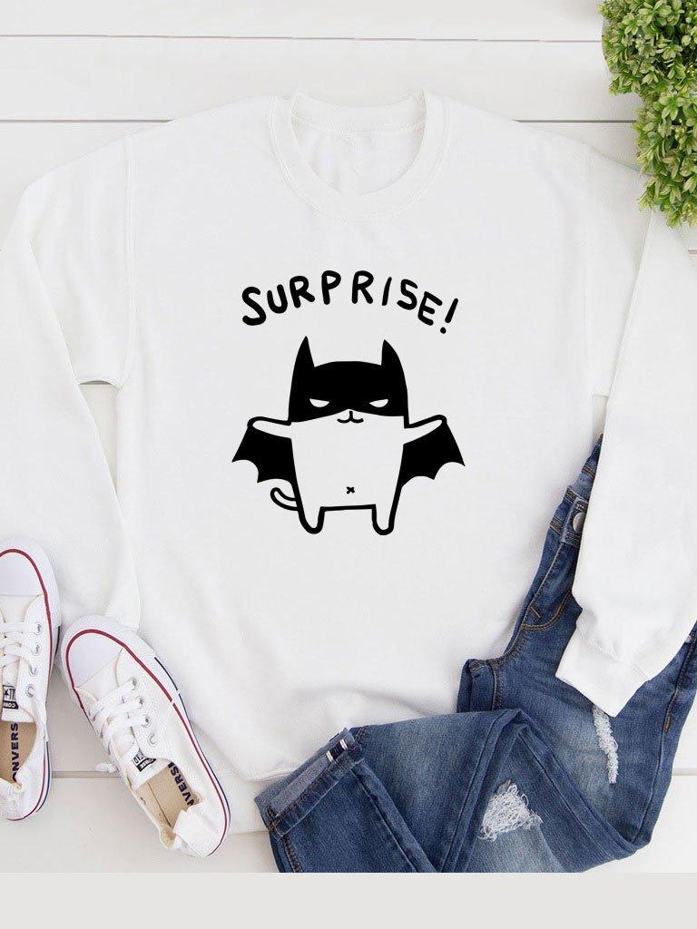 Bluza w kolorze białym Surprise!-2 Katarina Ivanenko