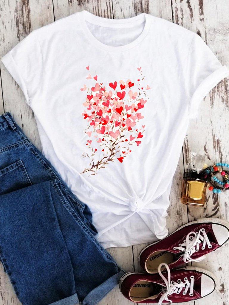 T-shirt biały Kwitnąca miłość Love&Live