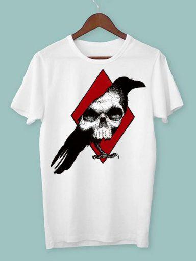 T-shirt męski biały Król trefl ZUZU