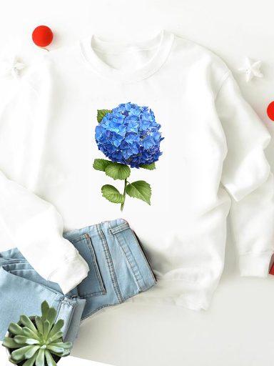 Bluza w kolorze białym Hortensja-2 ZUZU