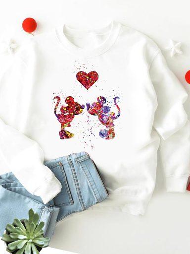 Bluza w kolorze białym Farby miłości ZUZU