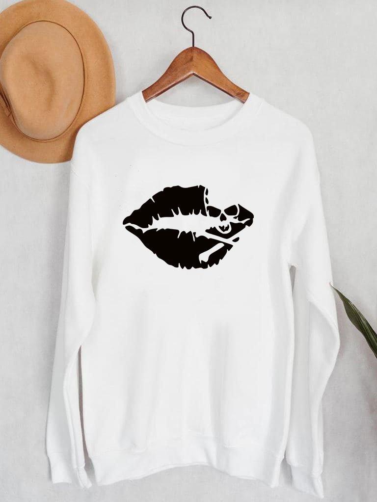 Bluza męska w kolorze białym Śmiertelny pocałunek ZUZU