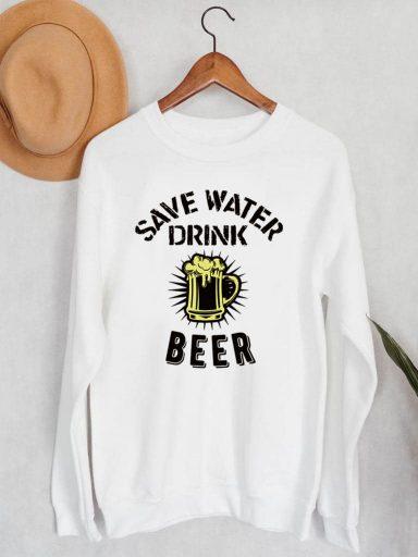 Bluza męska w kolorze białym Drink beer ZUZU (zdjęcie 14)