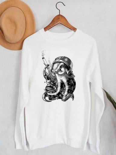 Bluza męska w kolorze białym Octopus ZUZU