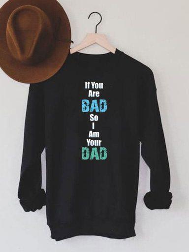 Bluza męska w kolorze czarnym If you are bad ZUZU