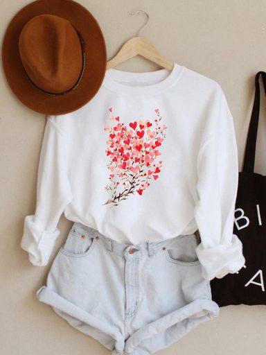 Bluza w kolorze białym Kwitnąca miłość Love&Live