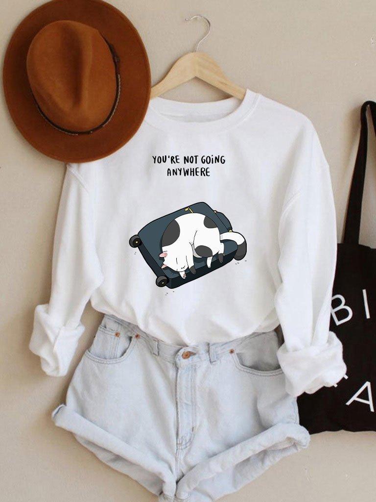 Bluza w kolorze białym You're not going anywhere Love&Live