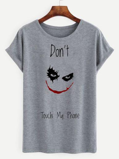 T-shirt męski szary Don't touch my phone ZUZU