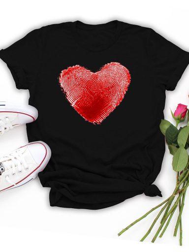 T-shirt czarny Odcisk Miłości Love&Live