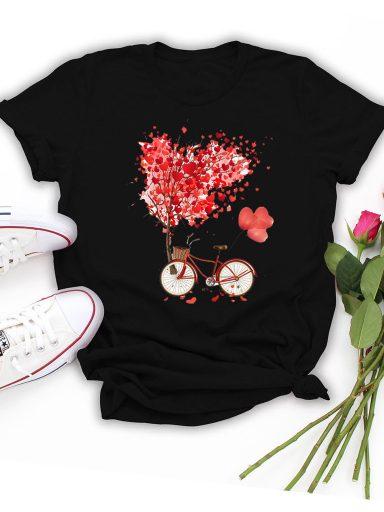 T-shirt czarny Drzewo Miłości Love&Live