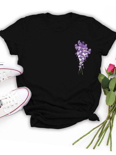 T-shirt czarny Lawenda Love&Live
