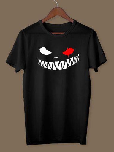 T-shirt męski czarny Czerwone oko ZUZU