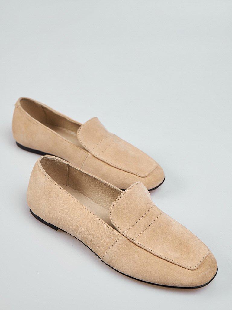 Beżowe buty zamszowe Love&Live (zdjęcie 2)