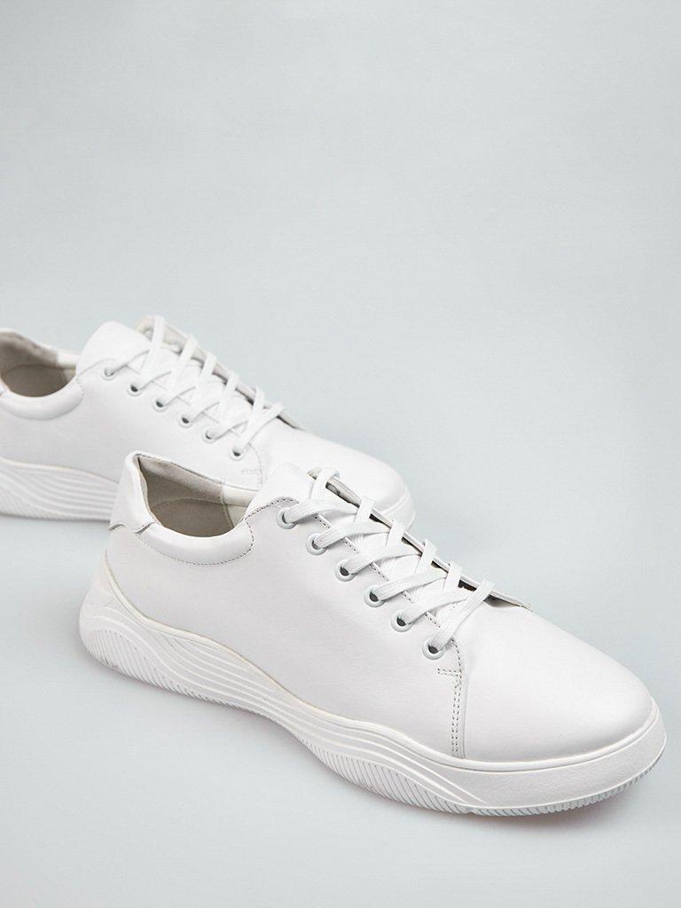 Buty męskie sportowe ze skóry w kolorze białym na obszernej podeszwie Love&Live (zdjęcie 3)