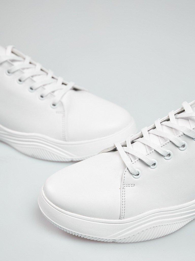 Buty męskie sportowe ze skóry w kolorze białym na obszernej podeszwie Love&Live (zdjęcie 2)