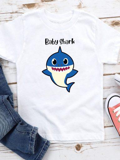 T-shirt biały dla dzieci Baby shark Love&Live