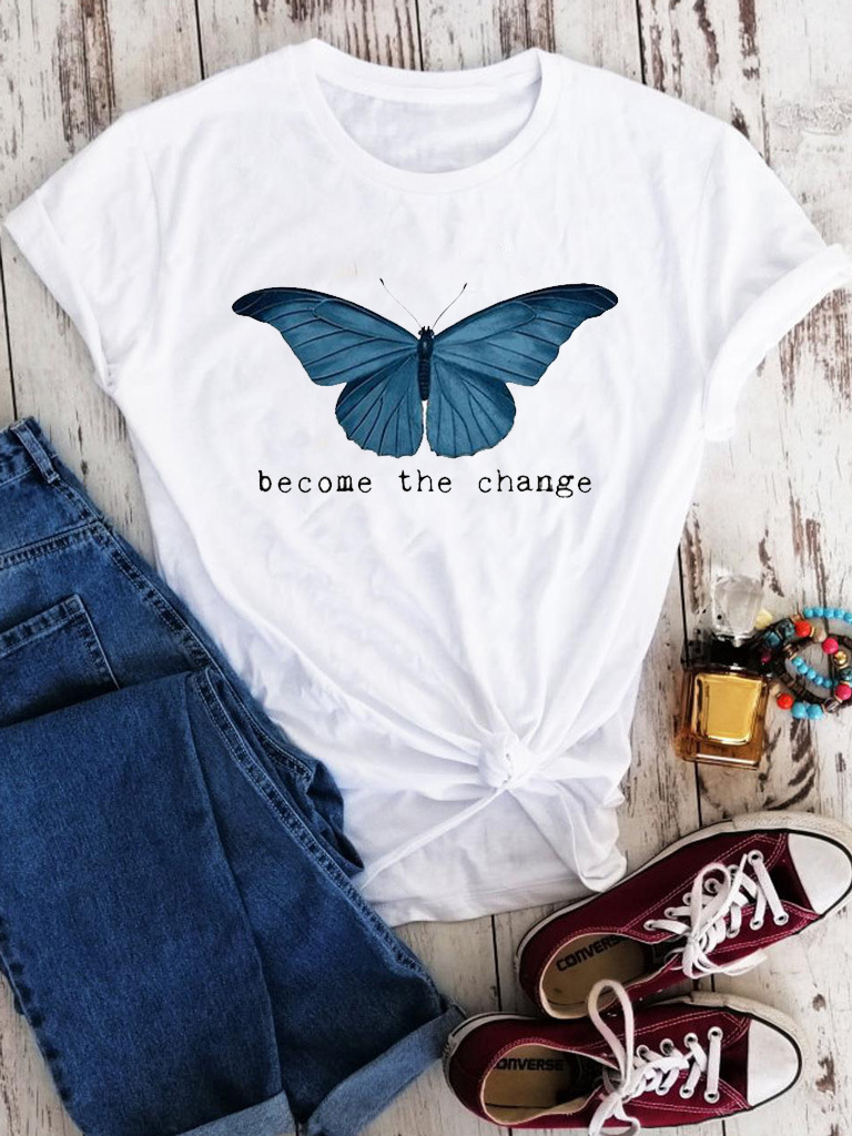 T-shirt biały Become the change Love&Live