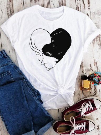 T-shirt biały Black&White-2 Love&Live