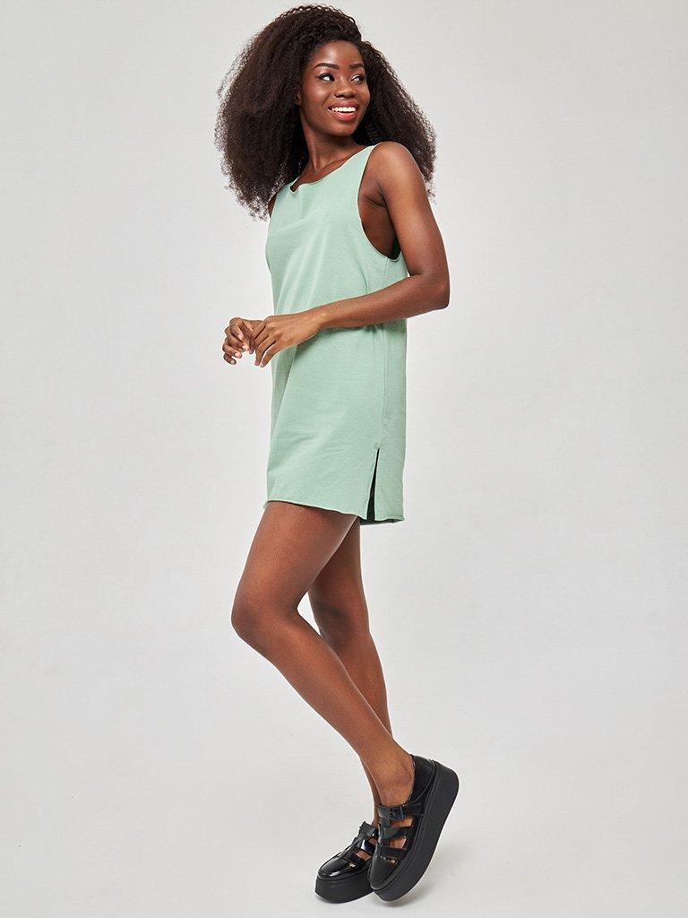 Koszulowa sukienka mini oliwkowa Love&Live